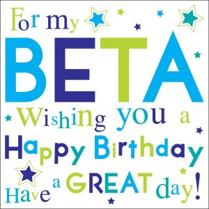 Beta Greeting Card