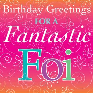 Foi Birthday Card
