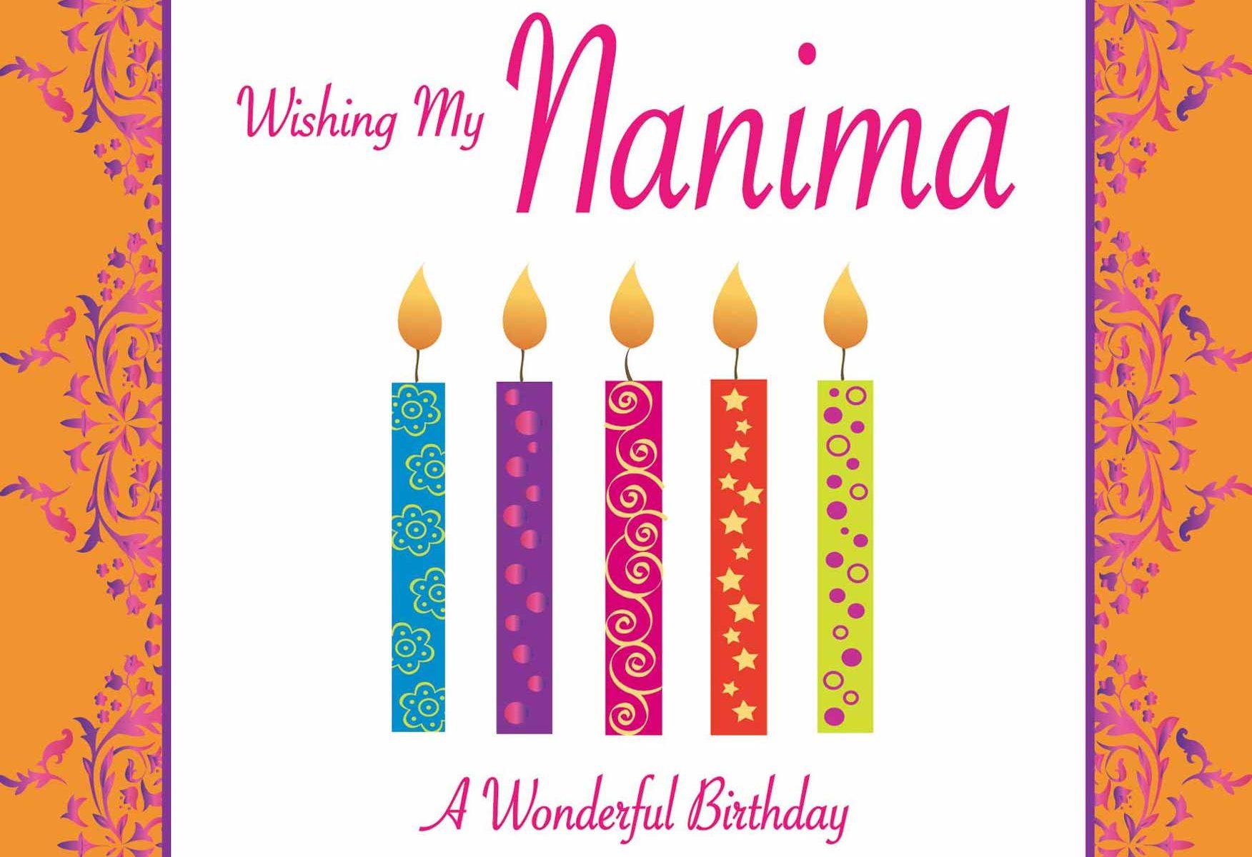 Nanima Birthday Card