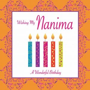 Nanima Birthday Card