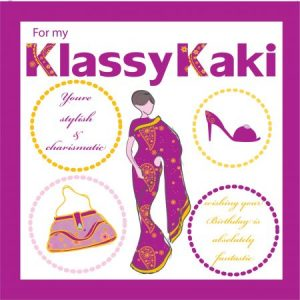 Kaki Greeting Card