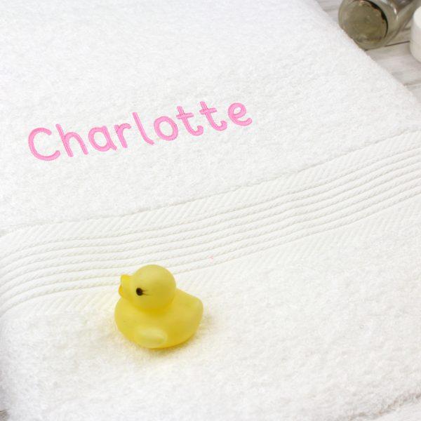 Personalised Baby Girl Towel